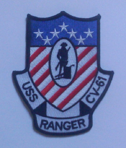 CV-61 USS RANGER MULTIPURPOSE AIRCRAFT CARRIER MILITARY PATCH