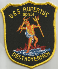 DD-851 USS RUPERTUS GEARING CLASS DESTROYER MILITARY PATCH - DESTROYERMEN