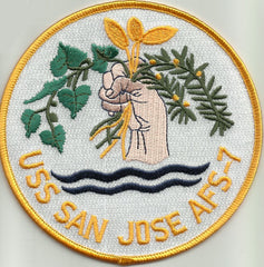 AFS-7 USS SAN JOSE MARS CLASS COMBAT STORES SHIP MILITARY PATCH