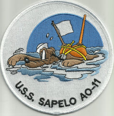 AO 11 USS SAPELO Fleet Oiler Military Patch PLUTO