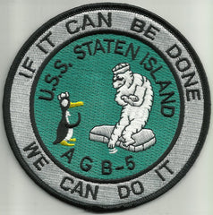 AGB-5 USS Staten Island Wind-Class ICEBREAKER Military Patch IF IT CAN BE DONE WE CAN DO IT