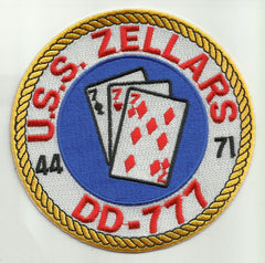DD-777 USS ZELLARS Sumner Class Destroyer Military Patch 44-71 Cards