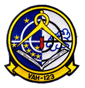 VAH-123 HEAVY ATTACK SQUADRON MILITARY PATCH PROFESSIONALS