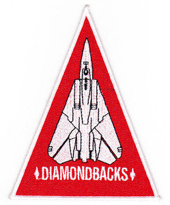 VF-102 US Navy Aviation Fighter Squadron One Zero Two Military Patch DIAMONDBACKS - TRIANGLE