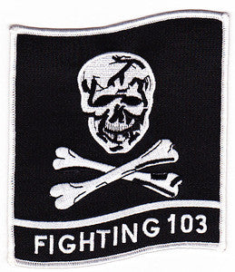 VF-103 US Navy Aviation Fighter Squadron One Zero Three Military Patch FIGHTING 103 - JOLLY ROGERS