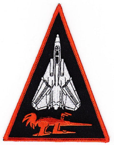 NAVY VF-114 TACTICAL FIGHTER ADVERSARY SQUADRON MILITARY PATCH AARDVARKS TRIANGLE