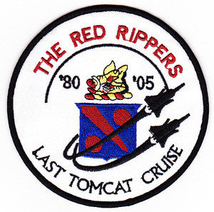 VF-11 US NAVY Aviation Fighter Squadron Military Patch THE RED RIPPERS LAST TOMCAT CRUISE