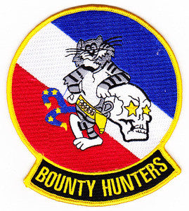 VF-2 US NAVY F-14 TOMCAT Aviation Fighter Squadron Military Patch BOUNTY HUNTERS