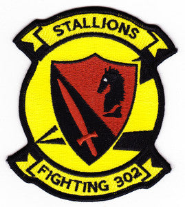 NAVY VF-302 Aviation Fighter Squadron FIGHTING 302 Military Patch STALLIONS