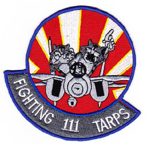 VF-111 Naval Aviation Tactical Fighter Adversary Squadron One One One Military Patch FIGHTING 111 TARPS