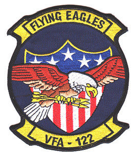 NAVY VFA-122 Aviation Fighter Attack Squadron Military Patch FLYING EAGLES