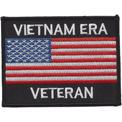United States VIETNAM ERA VETERAN American Flag Military Patch