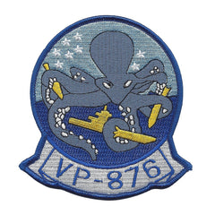 NAVY AVIATION PATROL SQUADRON EIGHT SEVEN SIX VP-876 MILITARY PATCH PATRON 876