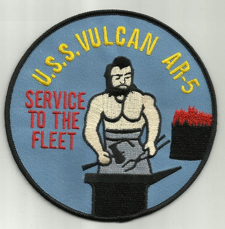 AR-5 USS VULCAN AUXILIARY REPAIR TENDER SHIP MILITARY PATCH SERVICE TO THE FLEET