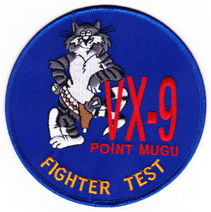 NAVY VX-9 TOMCAT Aviation Test and Evaluation Squadron Nine Military Patch POINT MUGU FIGHTER TEST