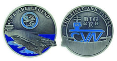 USS Enterprise CVN 65 - BIG E - We Are Legend Challenge Coin
