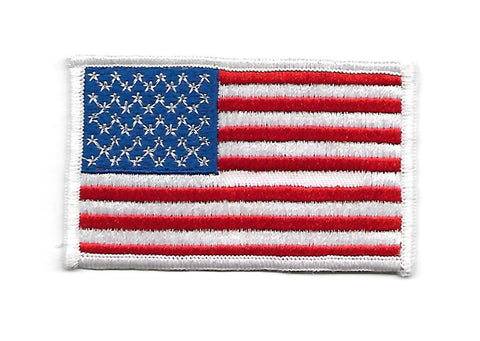 U.S.A. AMERICAN FLAG PATCH - White Border