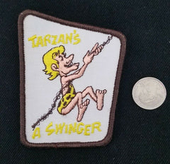 TARZAN'S a SWINGER funny Motorcycle Biker Patch sew on