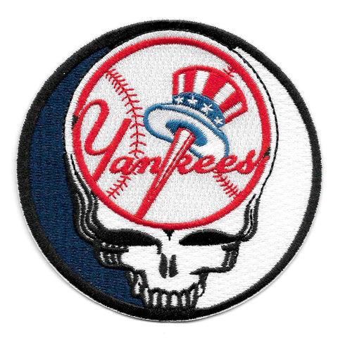 Steal Your Face Yankees Dead Head Skull Patch