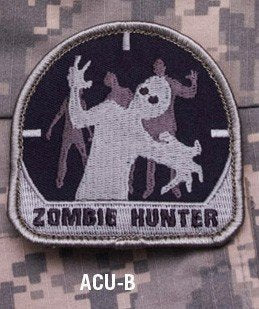 ZOMBIE HUNTER Hook Backing Patch - ACU