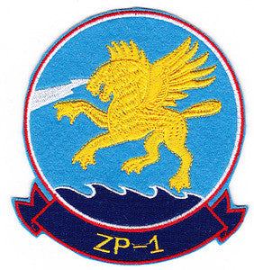 ZP-1 US NAVY Aviation Airship Patrol Squadron One Military Patch WINGED GRIFFIN