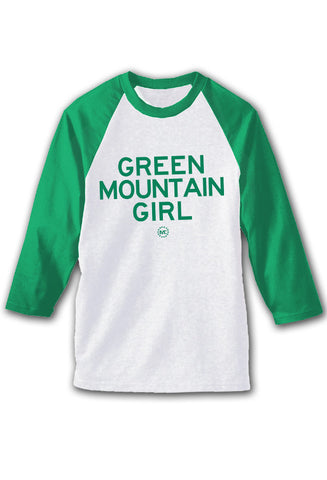 Green Mountain Girl Baseball Tee