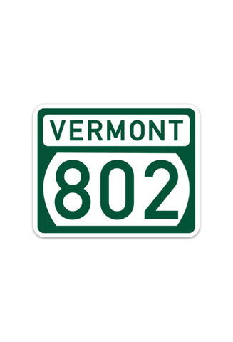 802 Road Sign (sticker)