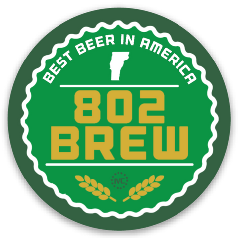 802 Brew Sticker