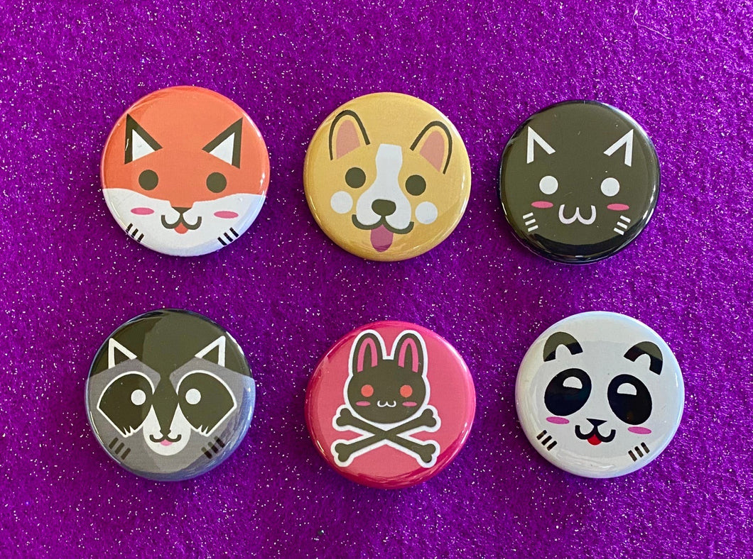 Kawaii Critters Buttons!