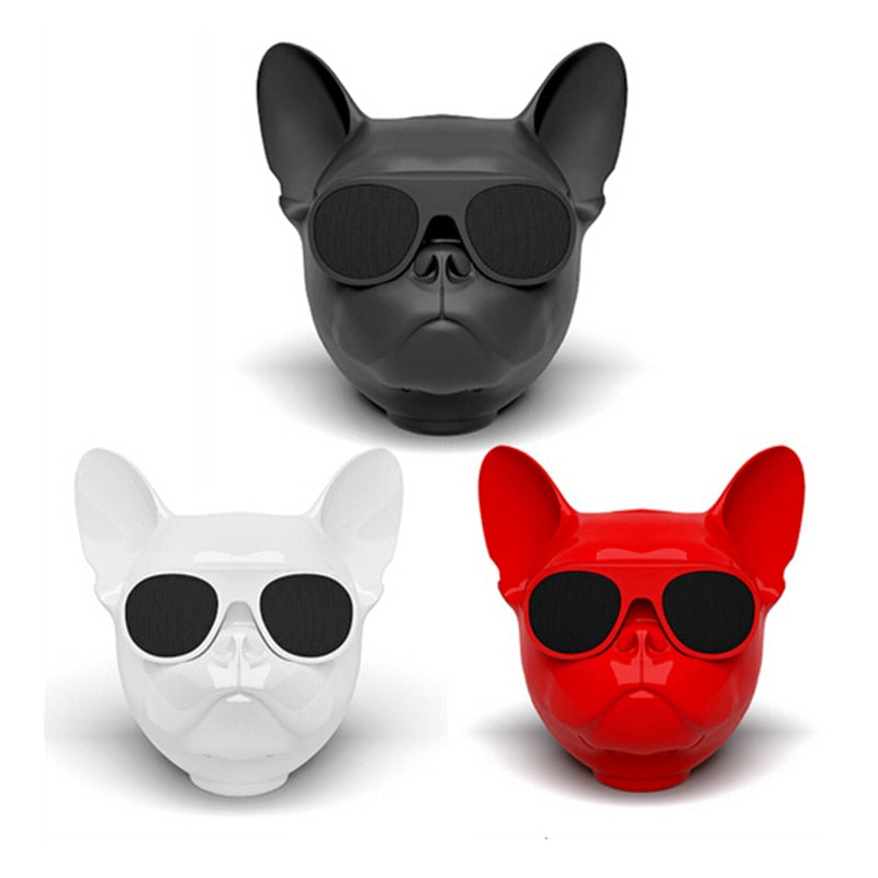 French Bulldog Bluetooth Speaker | PETSARAMA-ilovemypet.com-White-Petsarama