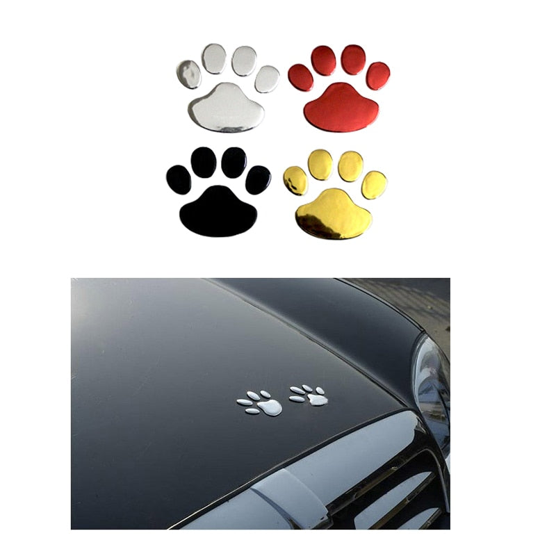 Car Paw Decal Car Stickers | PETSARAMA-ilovemypet.com-Black-Petsarama