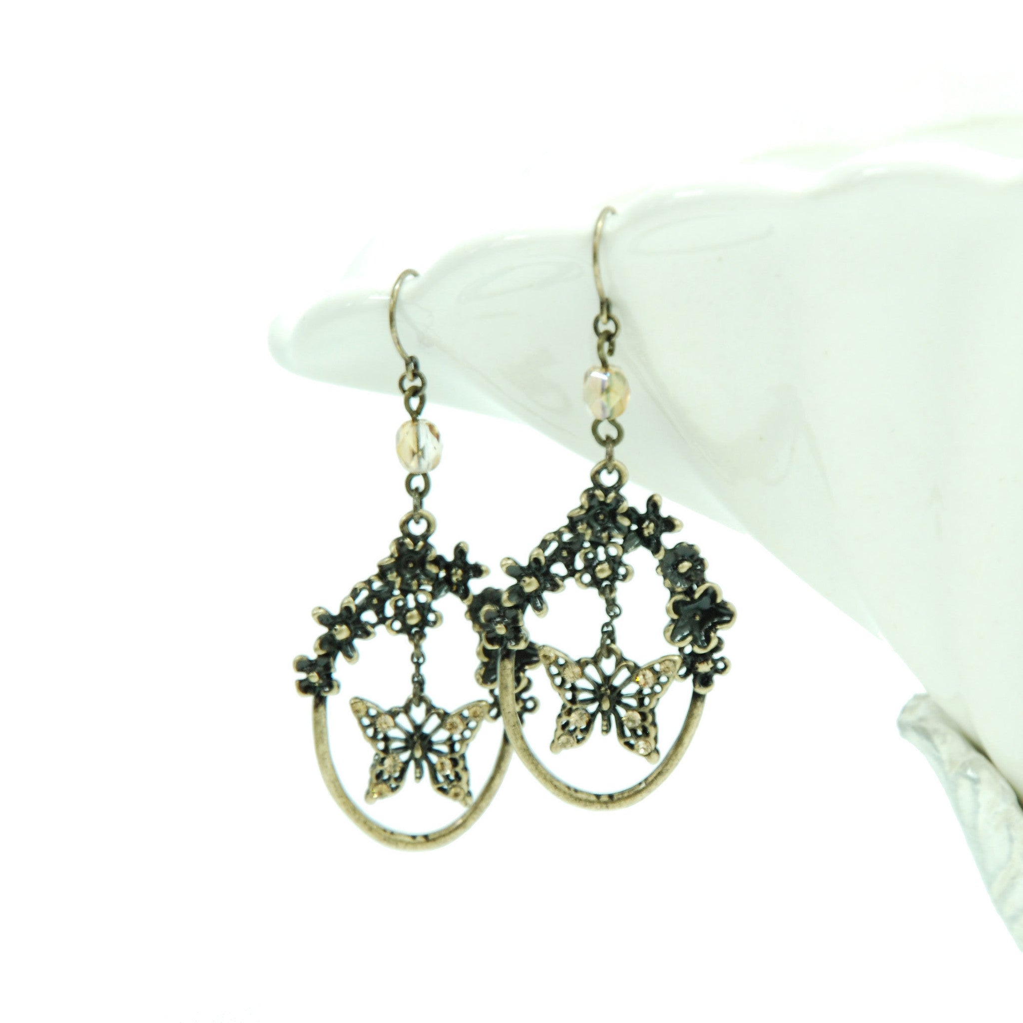 "Sheglit ""Rapunzel pierced earrings(antique gold)"""