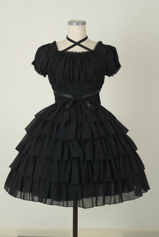 "Pina sweetcollection ""Chiffon georgette dress"" Black"