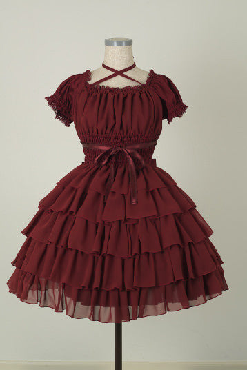 "Pina sweetcollection ""Chiffon georgette dress"" Burgundy"