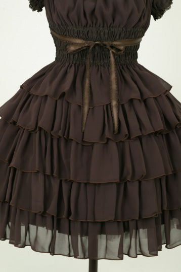"Pina sweetcollection ""Chiffon georgette dress"" Brown"
