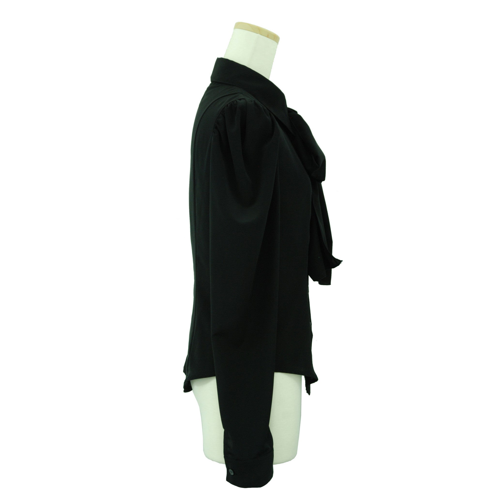 "Sheglit ""Classical blouse with ribbon jabot -black-"""