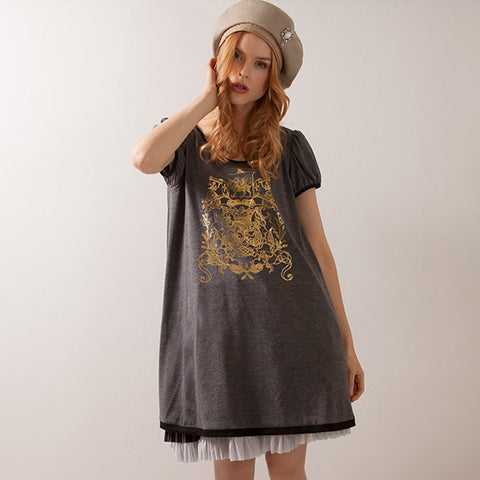 EXCENTRIQUE 15SP Crest Dress(GRAY)