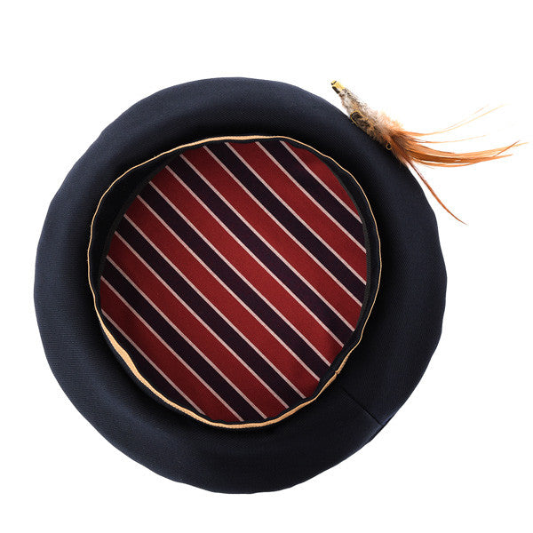 EXCENTRIQUE '15SU Feather Beret navy