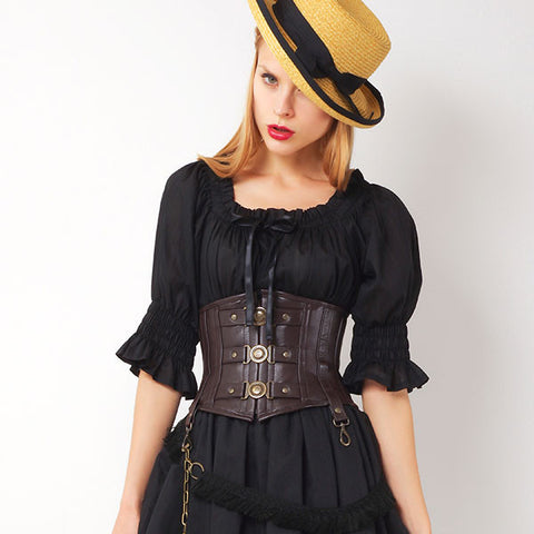 EXCENTRIQUE '15 Baldric Corset brown