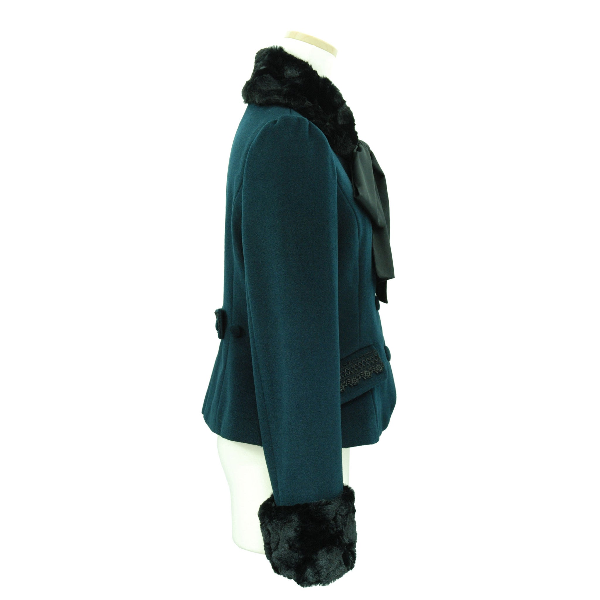 "Sheglit ""Agnes"" Short Coat dark green"