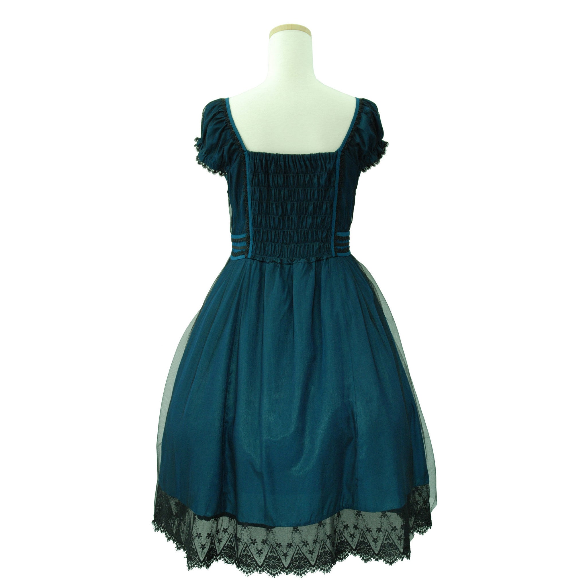 "Sheglit ""Tulle Dress(emerald blue)"""