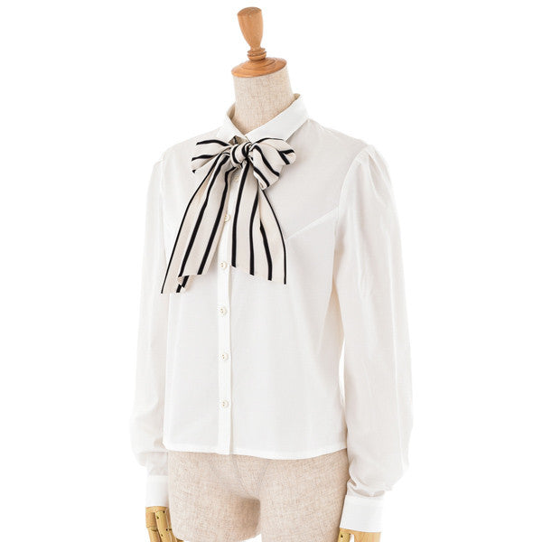 "EXCENTRIQUE""'15SP Shirts with Regimental Bow -WHT-"""