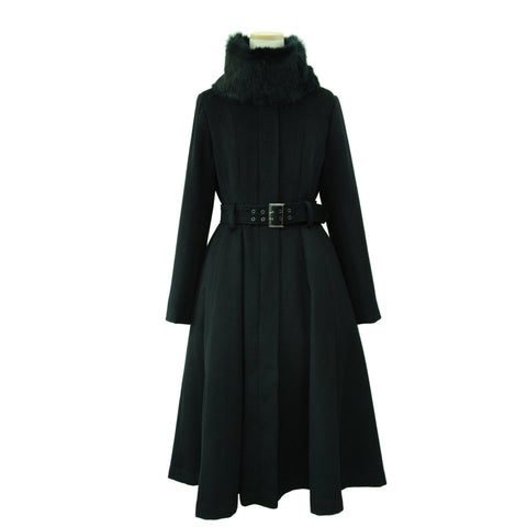 "Sheglit ""Stand collar long coat"""