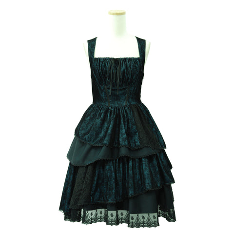 "Sheglit ""Masquerade irregular dress(navy)"""