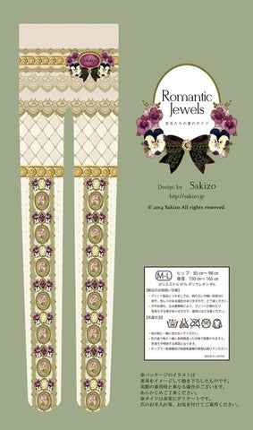 "sakizo ""Romantic Jewels Tights"" (ivory)"