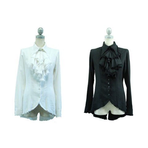 "Sheglit ""Swallowtail shirt with jabot bleed"""