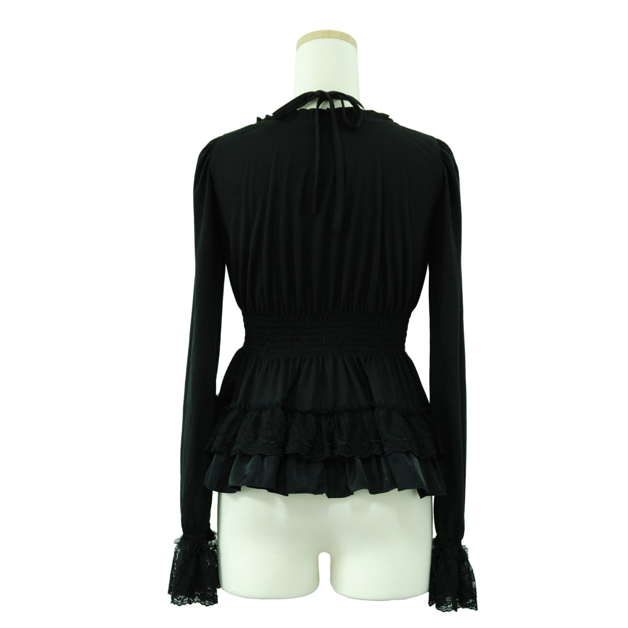 "Sheglit ""Tiered Frill Top(black)"""