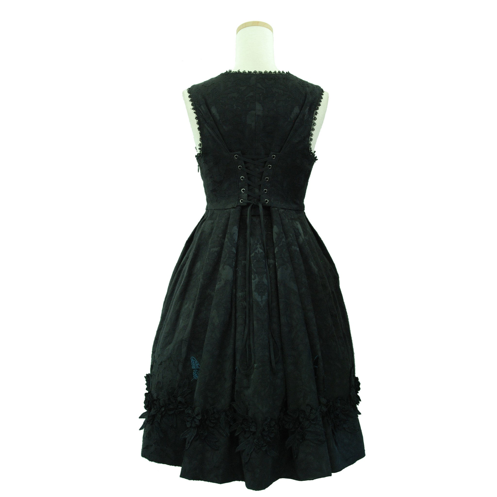 "Sheglit ""Rapunzel Jacquard Dress(black)"""