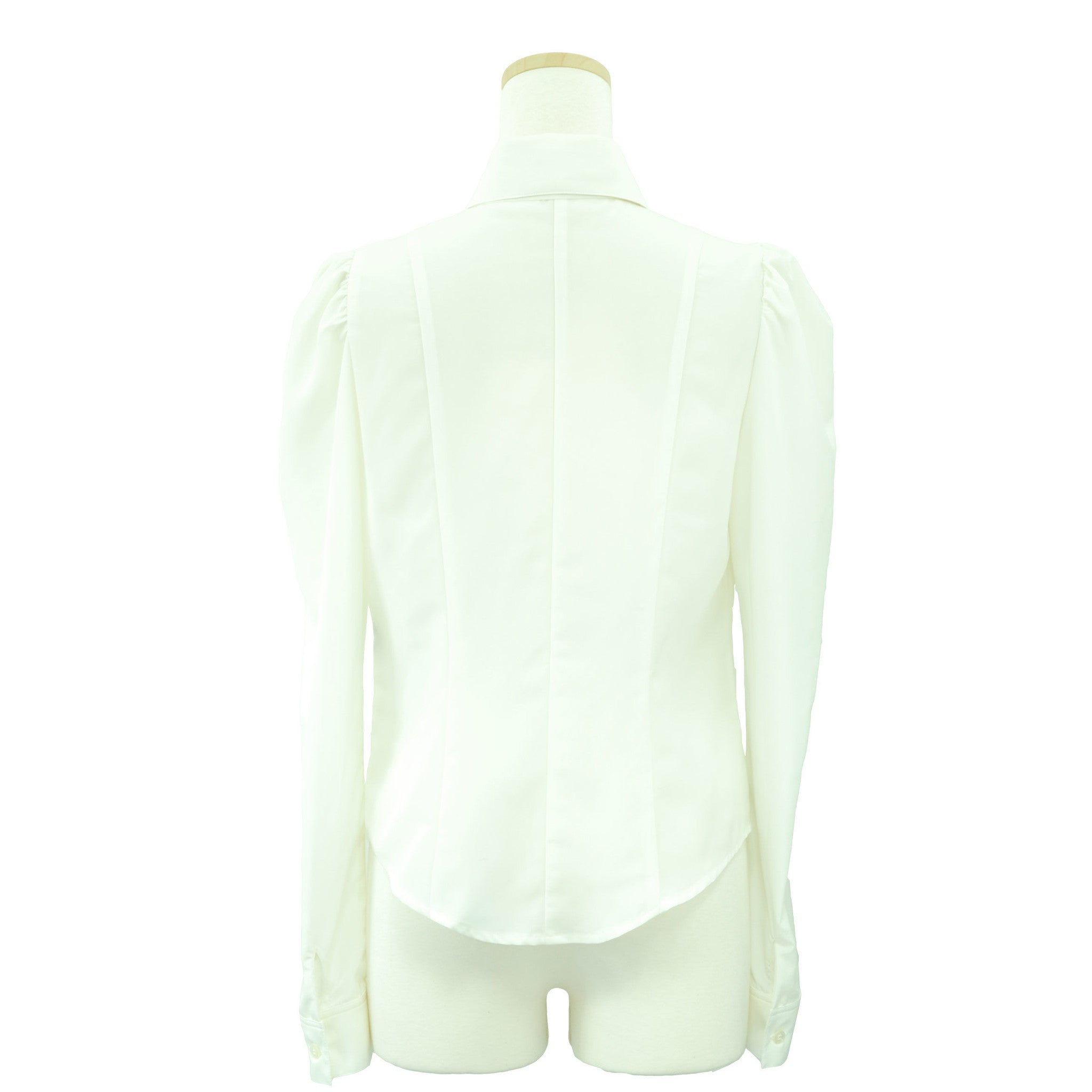 "Sheglit ""Classical blouse with ribbon jabot -off white-"""