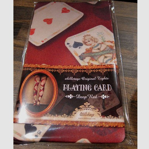 "abilletage ""PLAYING CARD -Deep red-"""